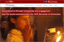 Հարավային Կալիֆորնիայի համալսարանը հրապարակում է Հայոց Ցեղասպանության 100-րդ տարելիցի միջոցառումների տեղեկատու
