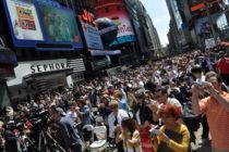 Հազարավոր մարդիկ են հավաքվել Times Square-ում  Հայոց Ցեղասպանության 100-ամյակը  հիշատակելու համար