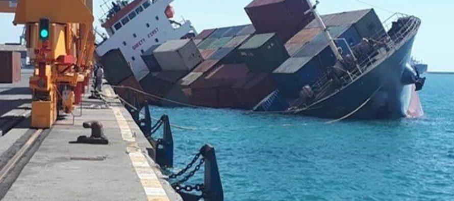 Կասպից ծովում խորտակվել է իրանական բեռնատար նավ